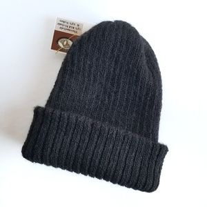 Thermohair | Kid Mohair Ribbed Knit Toque Black